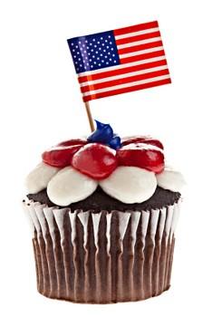 4th july cupcake