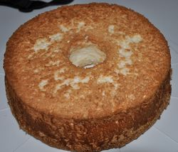 angel food cake baked