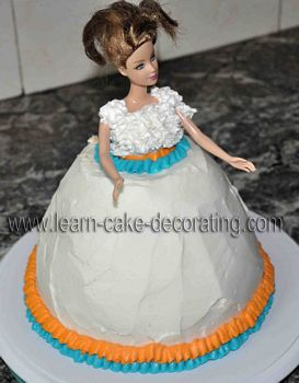 barbie dress decorated