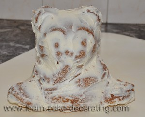 crumb coat bear cake