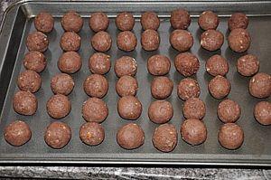 sheet of cake balls