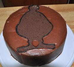 filling in cake pattern