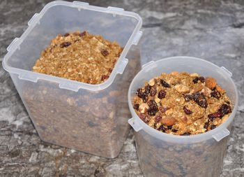 granola to freeze