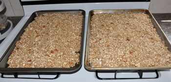 granola ready to bake