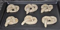 pan of pretzels