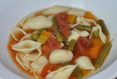 pasta fagoili soup