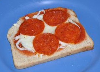 pizza toasted