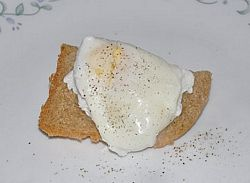 poached egg with toast