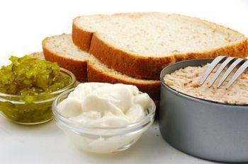 tuna salad sandwich makings
