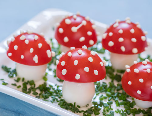 tomato egg mushrooms