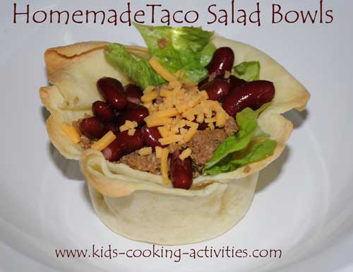 homemade taco salad bowl