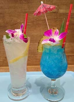 tropical fun drinks