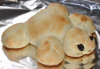 turtle shaped bread