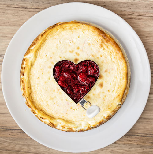 cheesecake heart filling