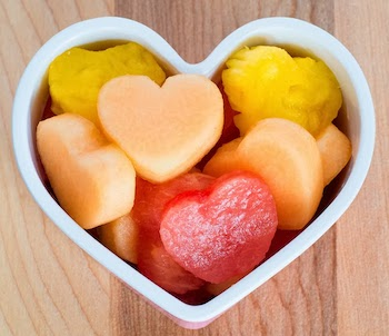 valentine fruit salad