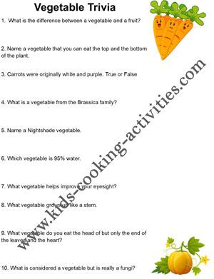 trivia worksheets