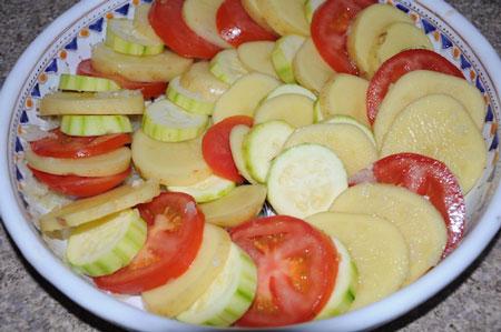 veggie dish layered