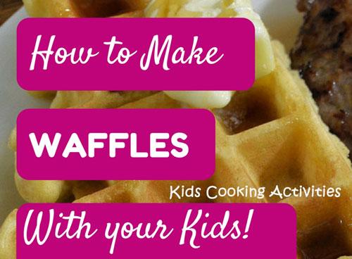 making homemade waffles