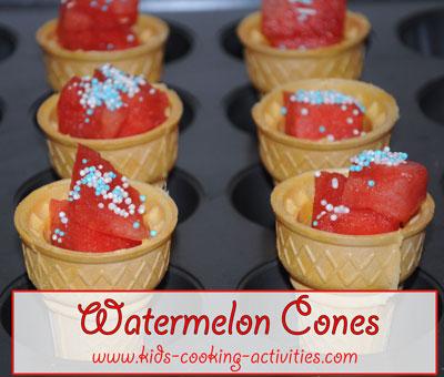 watermelon cones