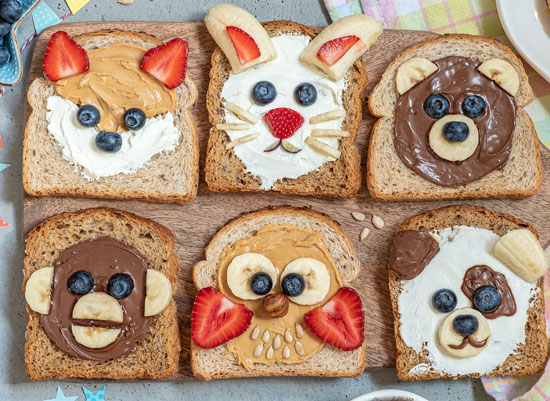 animal spread toasts
