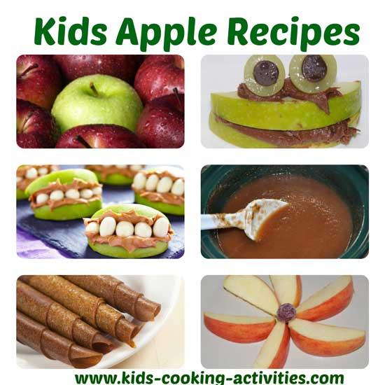 apple recipes collage