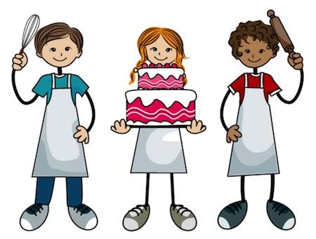 kid baking cakes