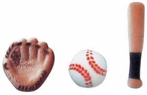 Baseball edible decoration