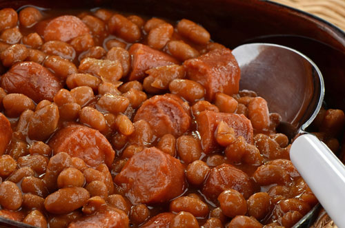beans and hot dogs