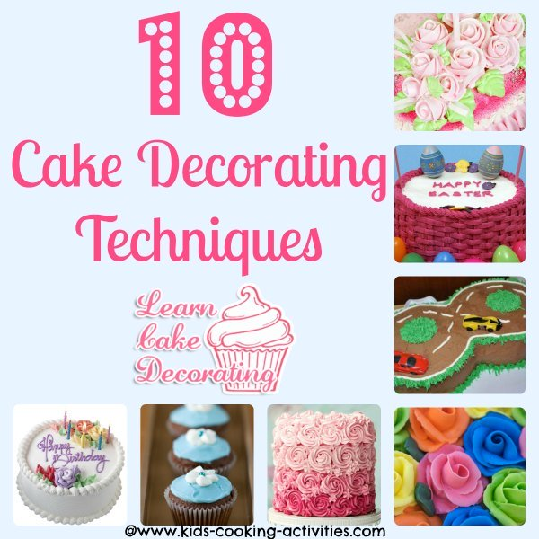 cake decorating techniques collage