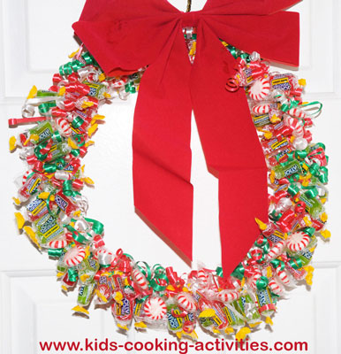 candy filled wreath