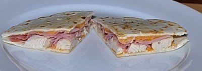 chicken ham quesadilla
