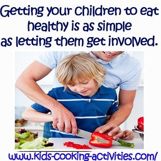 children involved in cooking