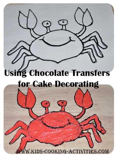 using chocolate transfers