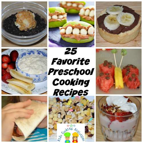 preschool recipes collage