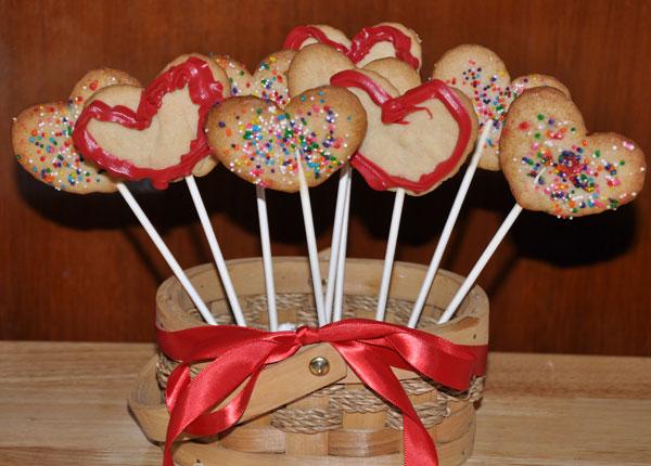 heart cookies  bouquet