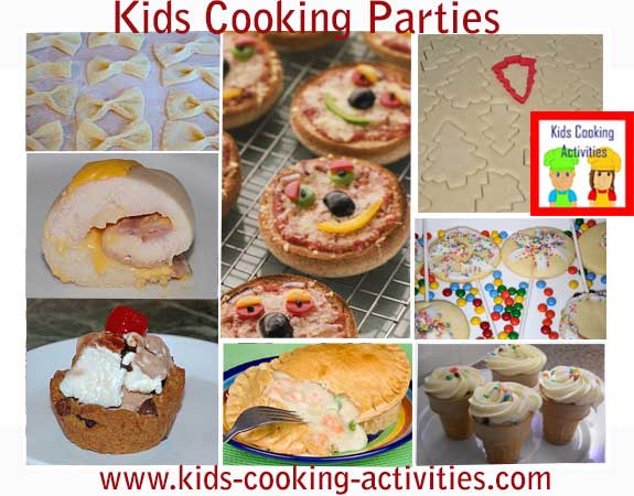 Kids cooking party ideas tips and menu for a hands on cooking cooking party ideas solutioingenieria Gallery
