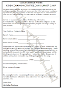 cooking waiver