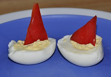 deviled egg boats