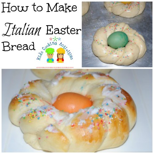 easter bread collage