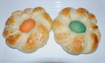 baked easter bread