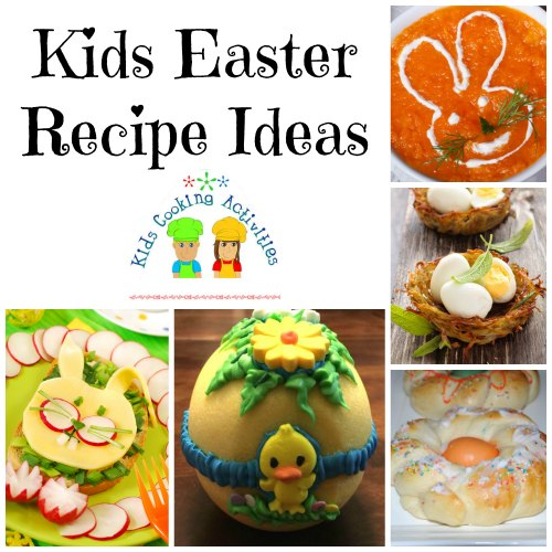 easter kids cooking ideas collage