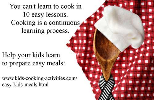 get kids cooking