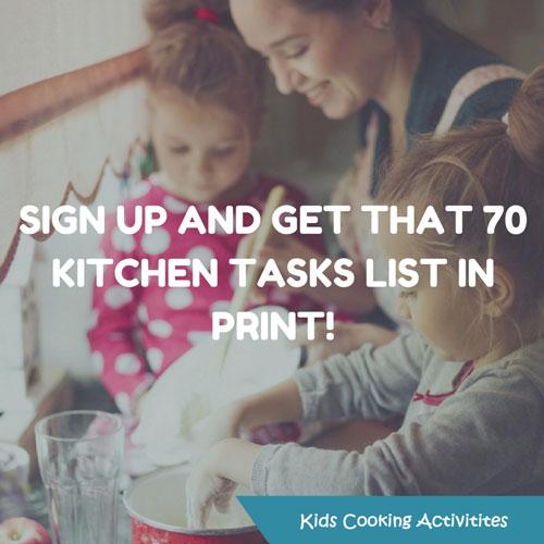 kids cooking printable list