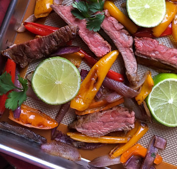 fajitas sheet pan