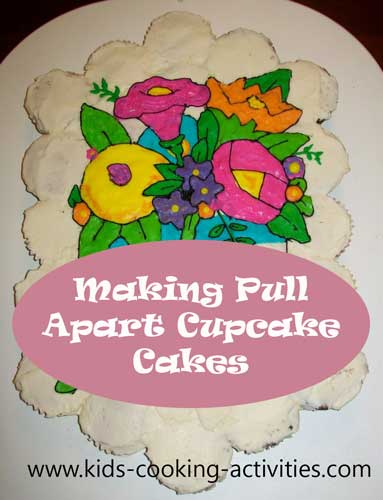 making pull apart cakes