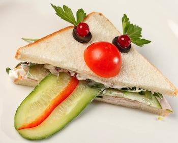 fun sandwich face