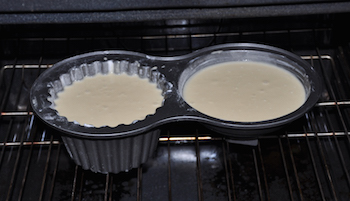 giant batter in oven
