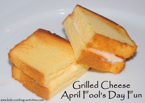 grilled cheese april fools day recipe