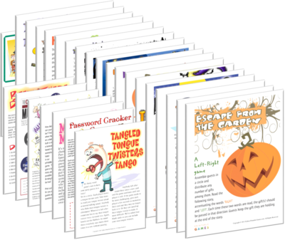 Halloween Party Games Pack: over 50 printables for all the family!