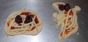 halloween pizzas